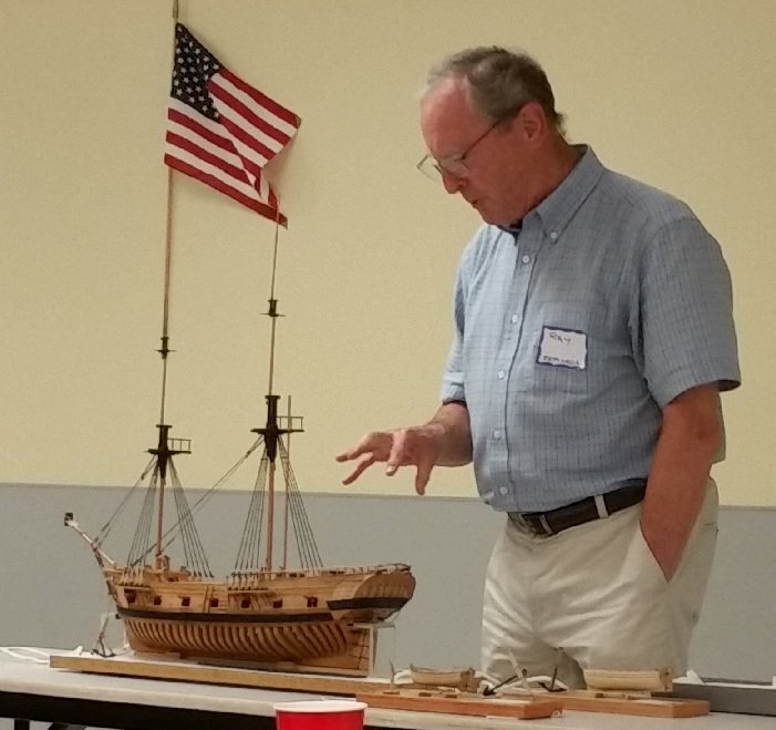 2- Ray with his model of HMS Ontario.jpg