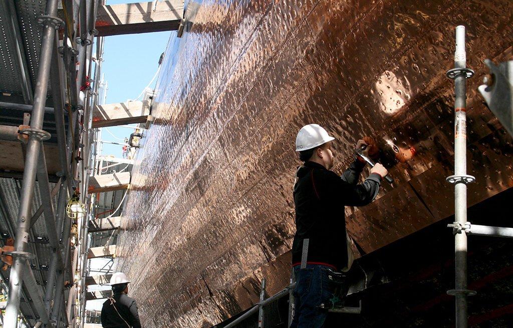 sheathing the USS Constitution.jpg