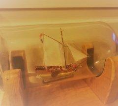 Amati Golden Yacht Ship in a Bottle