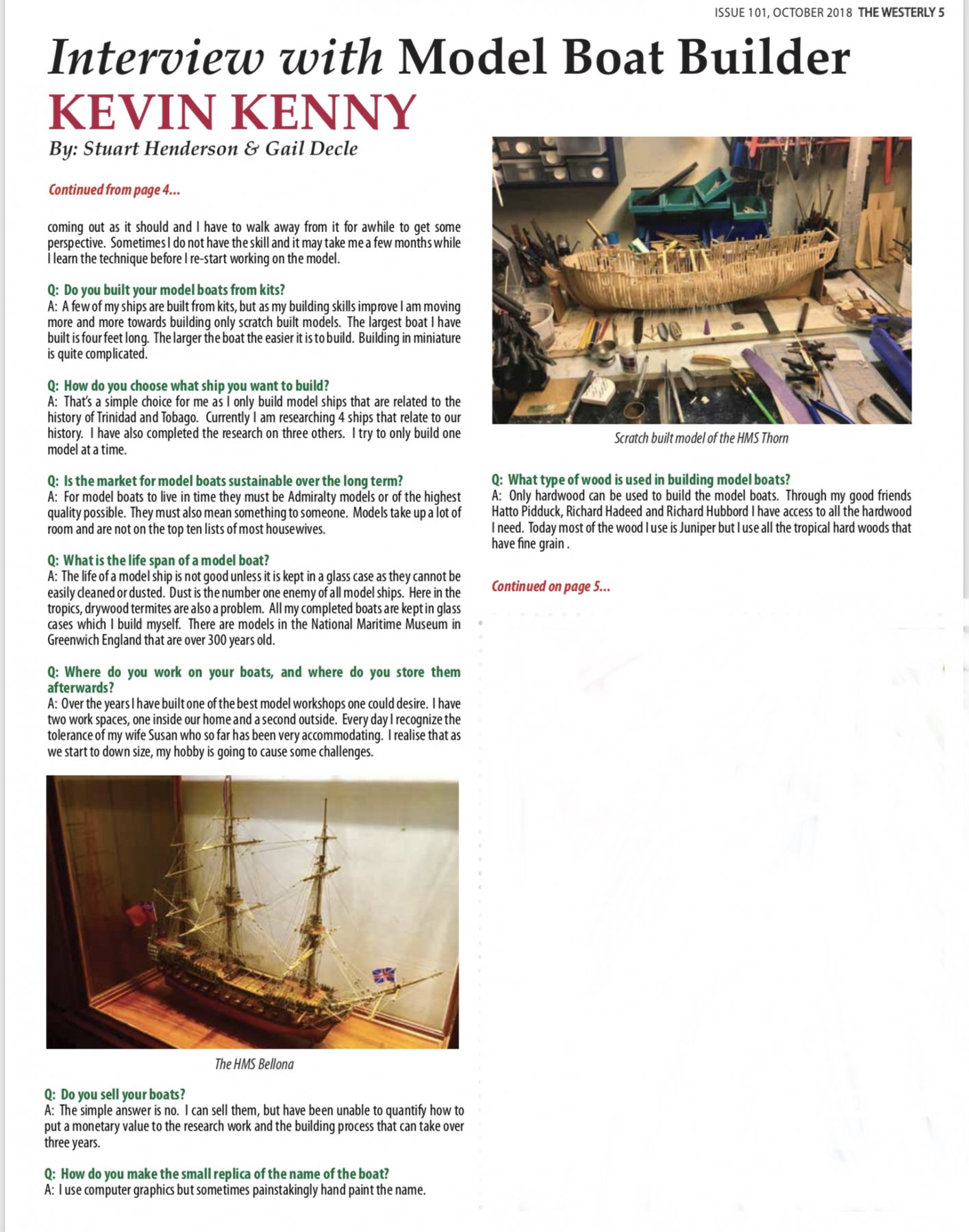 Interview with model builder Kevin Kenny - Nautical General