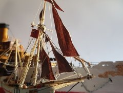 Danish fishing vessel 1/220 from cardstock