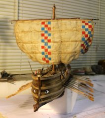 Nave Etrusca - Vessel and war Monére of the V-IV sec. B.C. - 1/30 scale