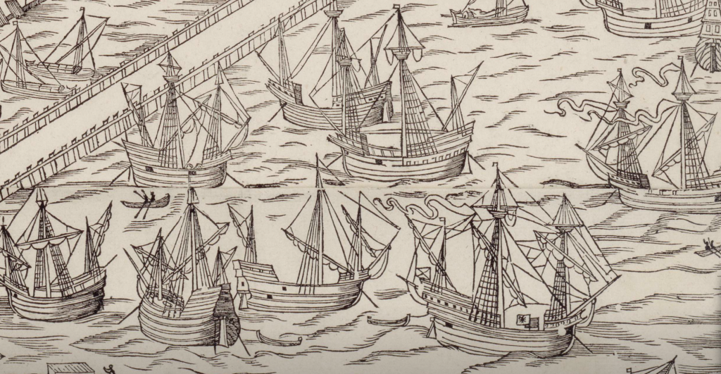 1544 map of amsterdam ship detail 6 mess o' ships .png