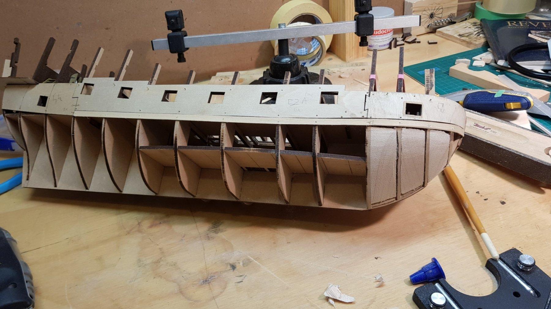 Filler Blocks - Building, Framing, Planking and plating a ships hull