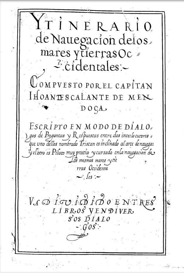 Juan Escalante de Mendoza Libro nombrado regimiento de la navegación de las Indias Occidentales3.jpg