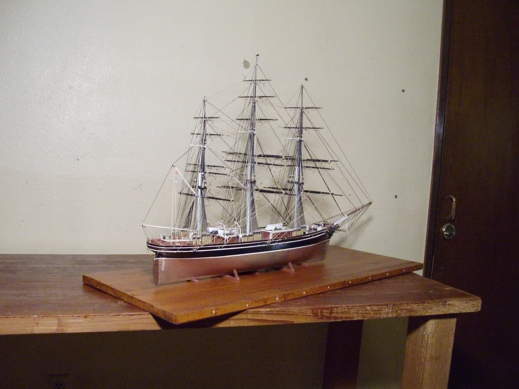completed ship models