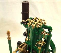 Exposed valve gear.
