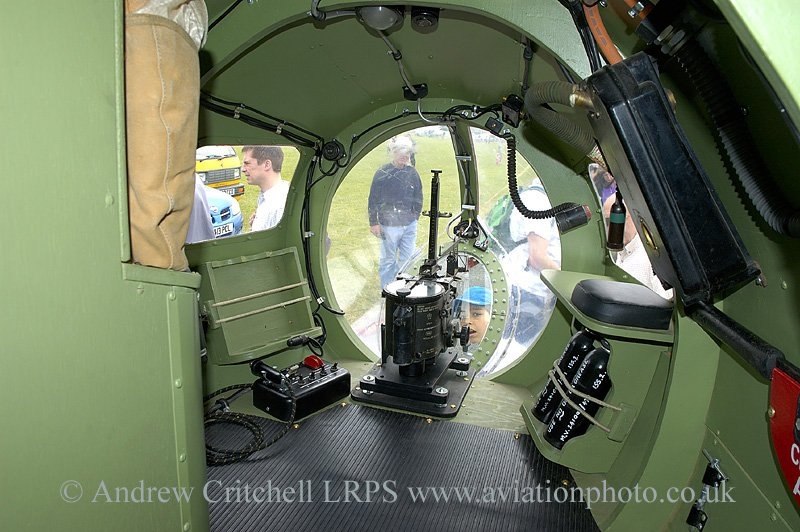 Dave Hall's Mosquito DZ313 project bomb aimers position Kemble 2006.jpg