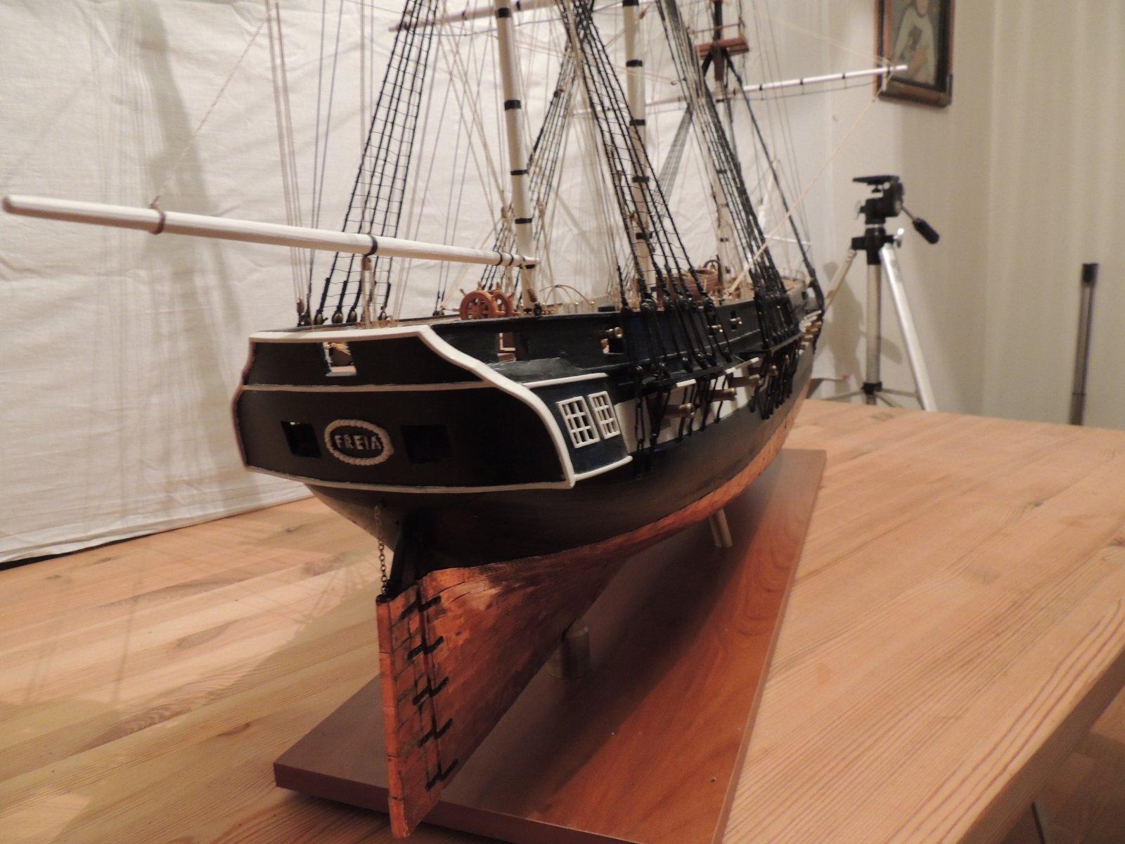 """Model of frigate """"freia"""" build 1828 for the Norwegian navy"""