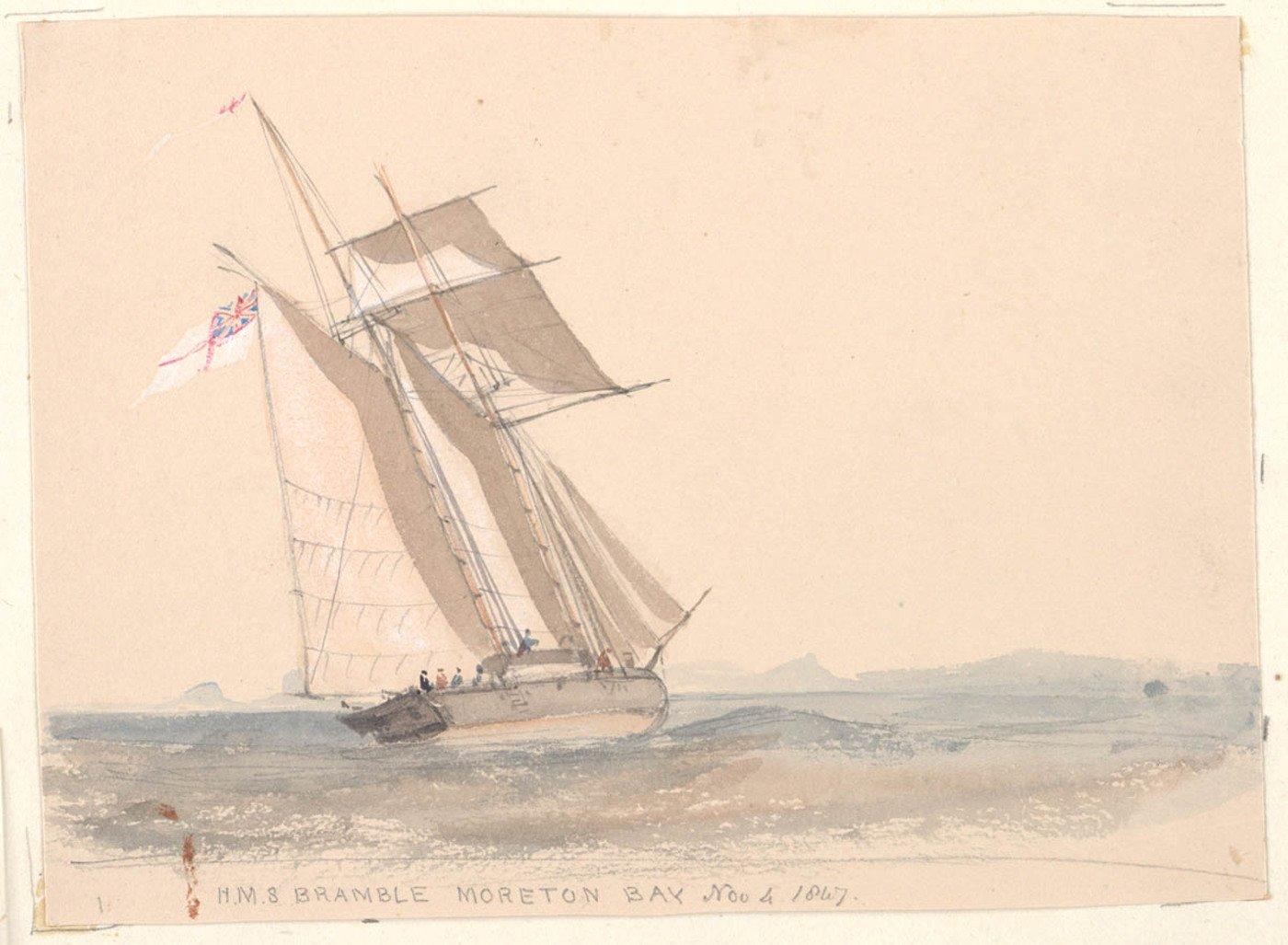 H.M.S. Bramble, Moreton Bay a487117h.jpg