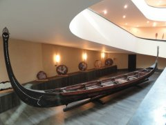 Collection of traditional boats from the Vatican museum
