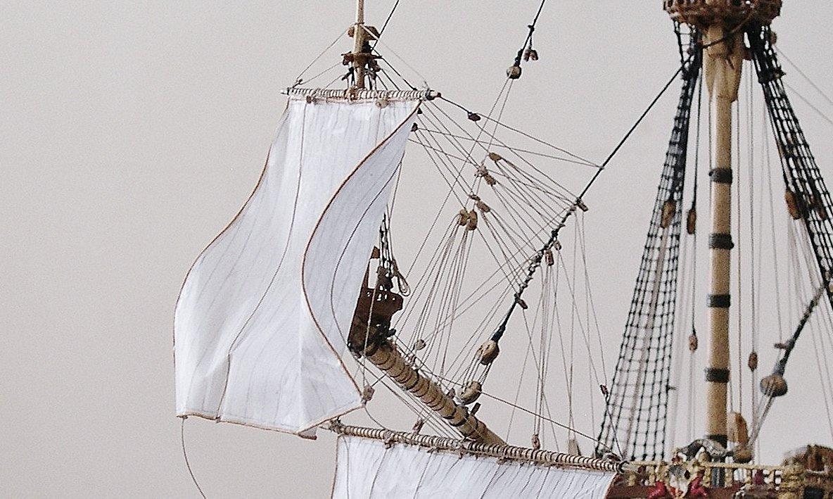 Sprit topsail billowing in detail -frigate Vasa, Rex Stewart.jpg