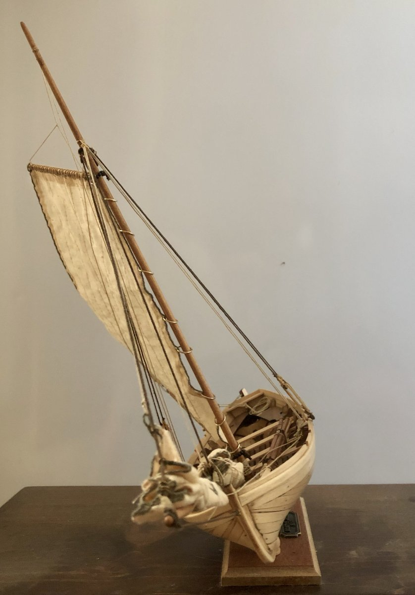 Jolly boat head on