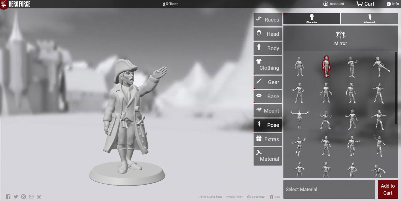 Hero Forge creator window
