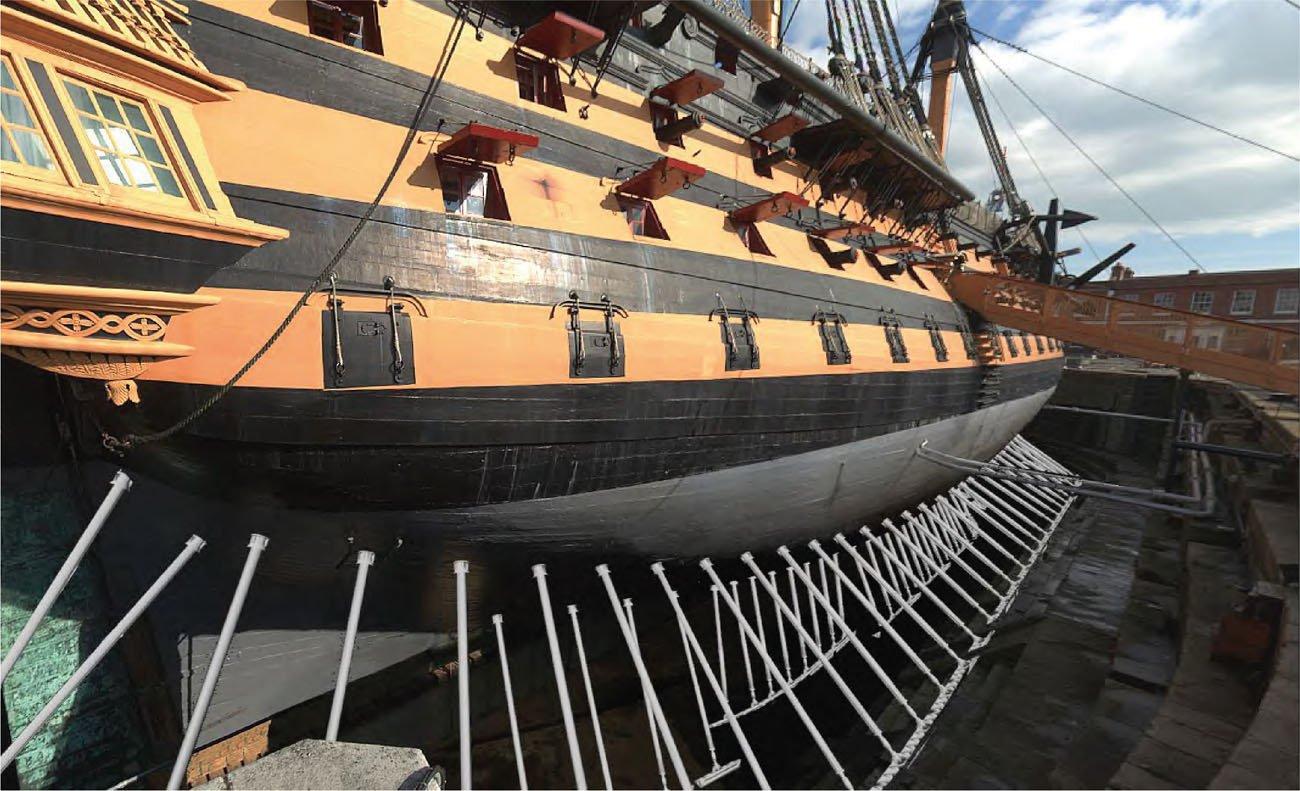 How adjustable steel props will look on HMS Victory credit NMRN.jpg