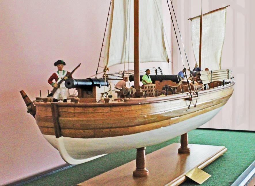 1. Caustic gunboat 1814
