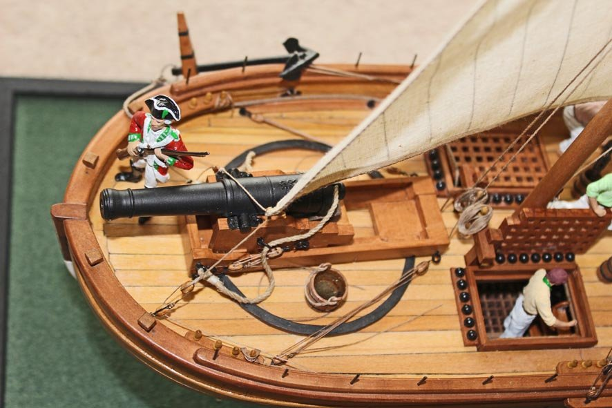 5. Caustic gunboat 1814 - bow 24pdr