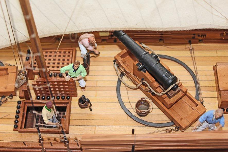 7. Caustic gunboat 1814 - midships 24pdr