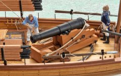 10. Caustic gunboat 1814 - aft 24pdr