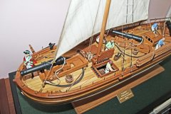 3. Caustic gunboat 1814 - scale 1/36
