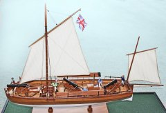 2. Caustic gunboat 1814 - scale 1/36