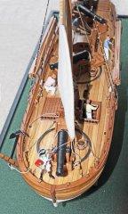 6. Caustic gunboat 1814 - midships