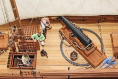 7. Caustic gunboat 1814 - midships 24pdr