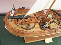 4. Caustic gunboat 1814 - bow 24pdr