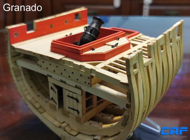 HMS Granado 'Cross Section' - CAF Model