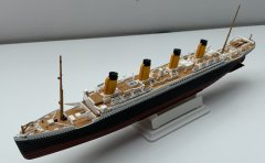RMS Titanic full view (angled front)